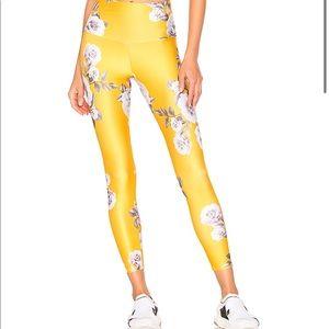 Yellow Floral Onzie Leggings